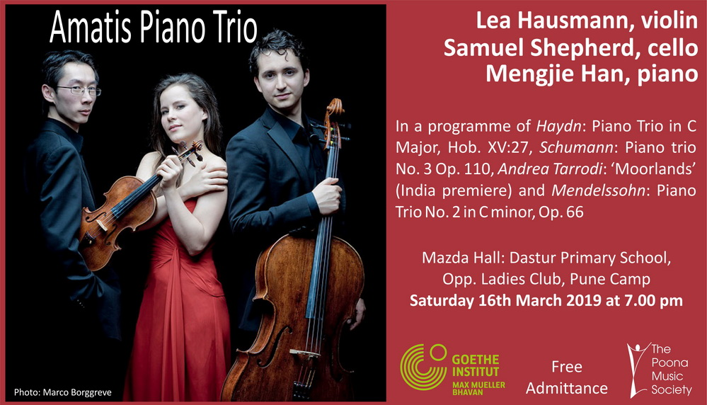 Amatis Piano Trio | The Poona Music Society