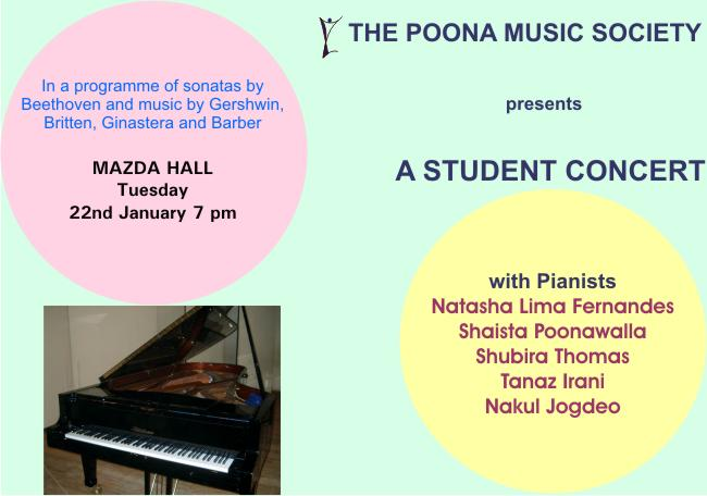 Students' concert of piano students of Pune who participated in the